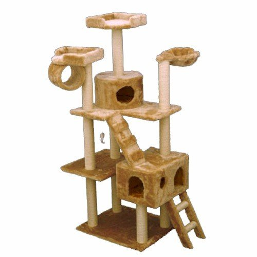 cat tree house majestic pet products 73 inch beige casita cat furniture 29699