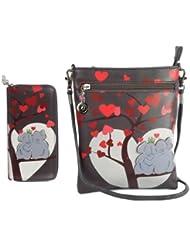 Combo Offer Of Designer Sling Bag +Wallet Grey Printed Stylish Sling Bag For Girls, Womens, Ladies Wallet Purses...