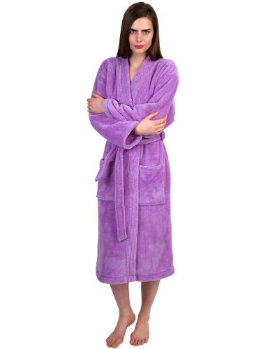 TowelSelections Plush Kimono Fleece Robe for Women and Men