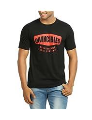 642 Stitches Men's Round Neck Cotton Invincibles T-Shirt