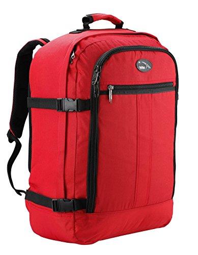 Cabin Max Metz - Sac à dos et bagage à mains pour cabine léger et certifié conforme - 44L 55 x 40 x 20 cm (rouge)