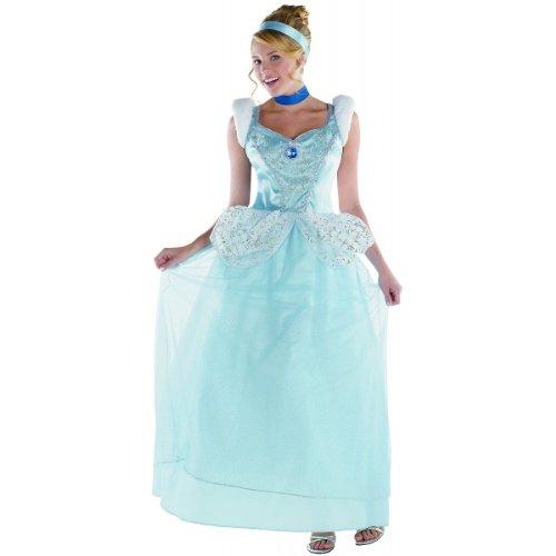 Disguise Disney Cinderella Adult Deluxe Costume, Light