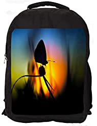 """Snoogg Butterfly In Nite Casual Laptop Backpak Fits All 15 - 15.6"""" Inch Laptops"""