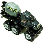 Maisto Fresh Metal Builder Zone Quarry Monster Black Concrete Mixer Truck Motorized 6 Wheeler