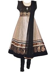 Ethnic Colors Women's Raw Silk Salwar Suit Set - B019ZHJ74S