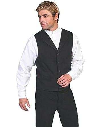 Victorian Men's Vests and Waistcoats Brushed Cotton Vest  AT vintagedancer.com