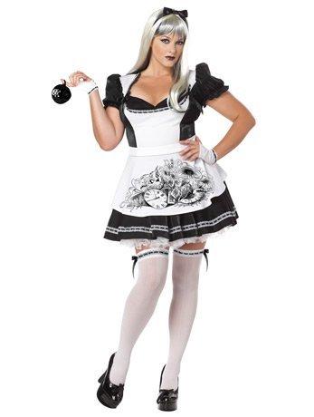 Halloween 2017 Disney Costumes Plus Size & Standard Women's Costume Characters - Women's Costume CharactersCalifornia Costumes Women's Plus-Size Dark Alice Plus, Black/White