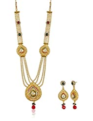 Ava Traditional Jewellery Set For Women (Gold) (S-VS-1410)