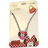 Disney Girls Mickey And Minnie Mouse Kiss Dress Up Jewelry Chain Necklace