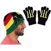 Warm Unisex Winter Woolen Cap With Hand Gloves
