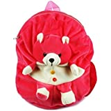 Richy Toys Cute Teddy Soft Toy School Bag For Kids, Travelling Bag, Carry Bag, Picnic Bag, Teddy Bag (Pink)
