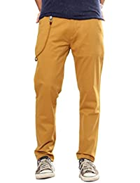 100% Cotton Lycra Slim Fit Stretchable Mens Spike Trouser By Uber Urban