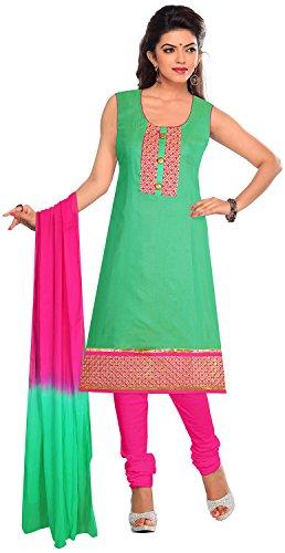 Elan Vital Women's Silk Cotton Straight Salwar Suit