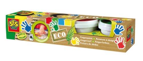 Ses 24926 4 Pots of Eco Finger Paints