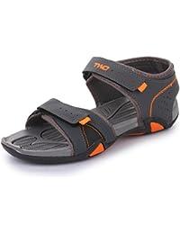 Trase Touchwood Trigger Grey / Orange Sandals & Floaters For Men