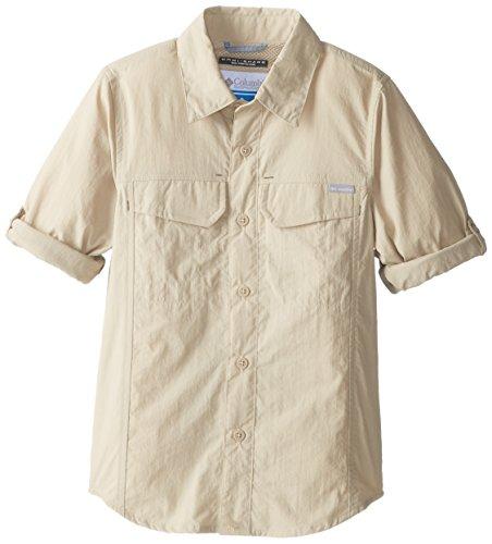 Columbia Boy's Silver Ridge Long Sleeve Shirt , Fossil, X-Sm