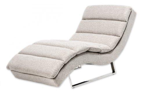 Miraseo MYHHRS63C Niko Chaiselongues - Relaxliege, hochwertiger Loungestuhl Fernsehsessel in Textil (Stoff), Farbe Creme, edler design comfort TV Liegesessel mit den Maßen: 168 x 73 x 86 cm