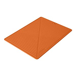 orange kitchen floor mats touch fta1880 6 silicone glass drying 3763