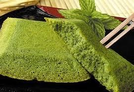 Kyoto Green Tea -  Sweet Green  Tea Financier  (French Butter Cake)  and Matcha Tea -
