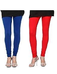 Style Acquainted People Women's Cotton Leggings (Pack Of 2) - B015J89BCA