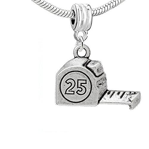 25 Inch Measuring Tape Ruler Charm Bead Spacer for Snake Chain Charm Bracelet