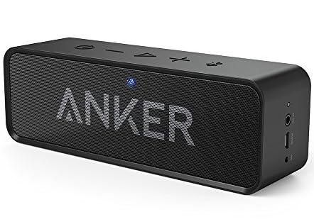 Anker SoundCoreポータブル Bluetooth4.0 スピーカー 24時間連続再生可能 【デュアルドライバー / ワイヤレススピーカー / 内蔵マイク搭載】 (ブラック)