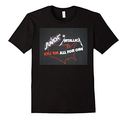 Men's METALLICA 80's Tour Concert Tee Shirt Thrash Metal Raven 3XL Black