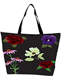 Snoogg Vector Flowers Waterproof Bag Made Of High Strength Nylon