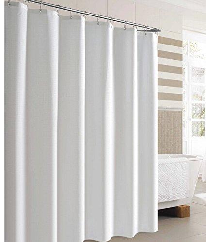 Eforgift Solid Pattern Shower Curtain Waterproof,Fabric Bath Curtains u0026quot;72x78u0026quot;, white Home