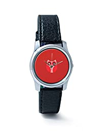 PosterGuy Red Cute Little Owl Bird Cartoon Analog Women's Wrist Watch-2238294536-RS2-S-BLK