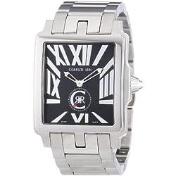 Cerruti CRB002A221D - Reloj analógico de caballero de cuarzo con correa de acero inoxidable plateada - sumergible a 50 metros