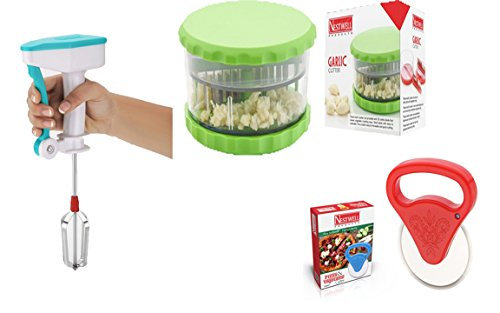 NESTWELL Power Free Blander WITH Garlic & Multi Crusher (ABS) WITH Pizza & Vegetable Cutter (Super)