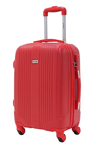 Valise cabine 55cm - Trolley ALISTAIR Airo - ABS ultra Léger - 4 roues - Rouge