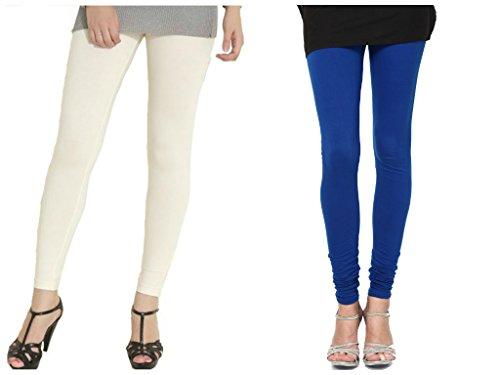 Kamaira Clothings Women's Cotton Leggings (Pack Of 2)