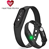 Fitness Tracker Gosund C6 Heart Rate Monitoring Smart Bracelet Fitness Band With Pedometer Call SMS Reminder IP65... - B01K9HKLVQ