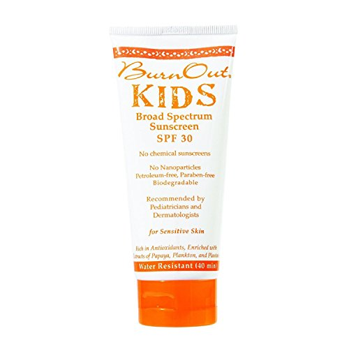 Theme Park Food and Safety EWG 2016 Top Rated Sunscreen for Kids - BurnOut SPF 35 KIDS Broad Spectrum, 3.4 oz.