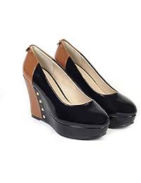 Bello Pede Women's Studded Black Wedge