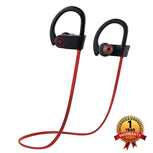Bluetooth Headphones, Otium Best Wireless Sports Earphones w/Mic IPX7 Waterproof HD Stereo Sweatproof in-Ear Earbuds Gym Running Workout 8 Hour Battery Noise Cancelling Headsets
