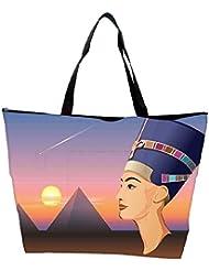 Snoogg Nefertiti And Giza Vector Waterproof Bag Made Of High Strength Nylon