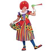 Girls Clown Princess Costume - Child Medium