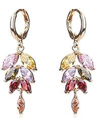Waah Waah Gold Plated Cubic Zircon Earrings Set For Women (Paradise Leaf)