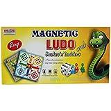 Jupiterenterprises Ludo Junior,ludo,board Game ,multicolour Square Magnetic Board And 16 Piecesand 1dice,hd Printing.