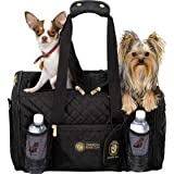 Sherpa American Kennel Club Double Sided Dog Carrier Bag for 2 Pets, Black