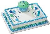 Blue Cupcake Keepsake DecoSet Cake Decoration