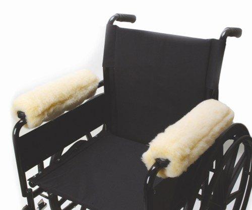 """Fleece Wheelchair Arm Cushions 10"""" (pair)"""