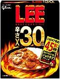 グリコ LEE リーカレー 辛さ30倍 辛さ増強ソース付45倍に挑戦