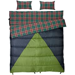 Slumberjack Bonnie and Clyde 30/40 Double Wide Synthetic Sleeping Bag