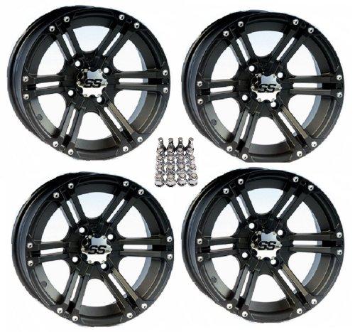 ITP SS212 ATV Wheels/Rims Black 12″ Honda Rincon Yamaha Rhino Kawasaki Brute Force Suzuki KingQuad (4)