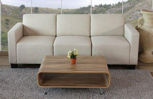 Modular 3-Sitzer Sofa Couch Lyon, Textil ~ creme