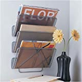 Design Ideas Wall Works Magazine Rack Small Silver